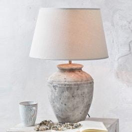 Tischlampe Mosnay grau