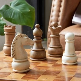 Figur 5er Set Chess braun