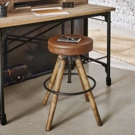 Hocker Twist braun