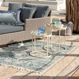 In- & Outdoor-Teppich Daly blau