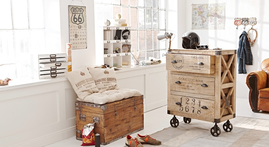 einrichtungsidee originelle m bel mit industrie charakter. Black Bedroom Furniture Sets. Home Design Ideas