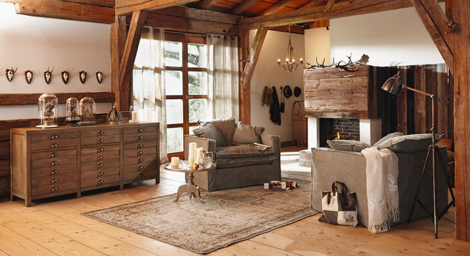 einrichtungsidee berg chalet loberon. Black Bedroom Furniture Sets. Home Design Ideas